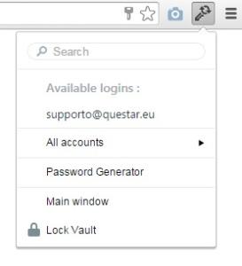 Utilizza il plugin per il tuo browser preferito per inserire direttamente la password
