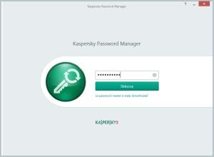 Inserisci la password master per sbloccare i dati cifrati