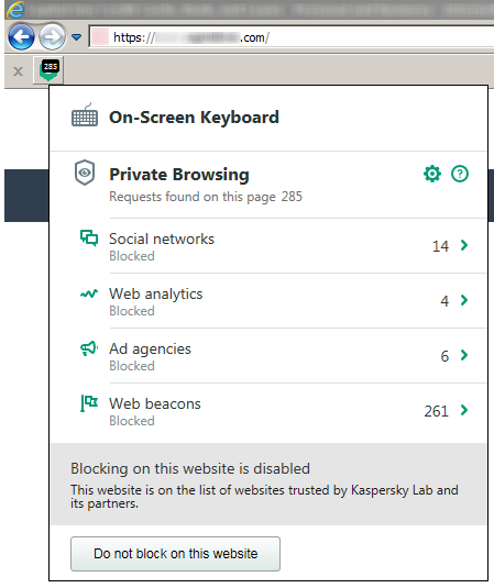 Private Browser statistics